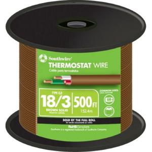 Surprising 250 Ft 18 8 Solid Bc Cmr Cl2R Brown Thermostat Wire 7537 Sp Bn 250 Wiring 101 Akebwellnesstrialsorg