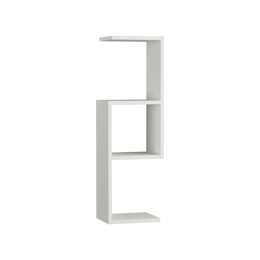 Ada Home Decor Wieland White Modern Wall Shelf DCRW2281