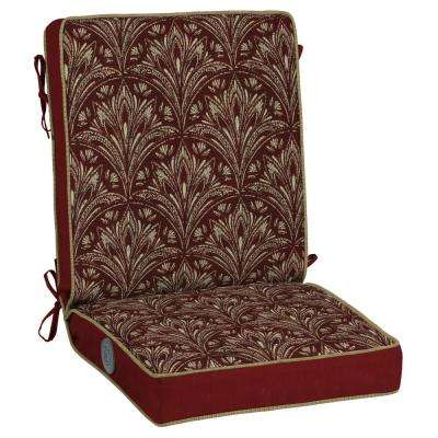 Royal Zanzibar Berry Adjustable Comfort Outdoor Dining Chair Cushion