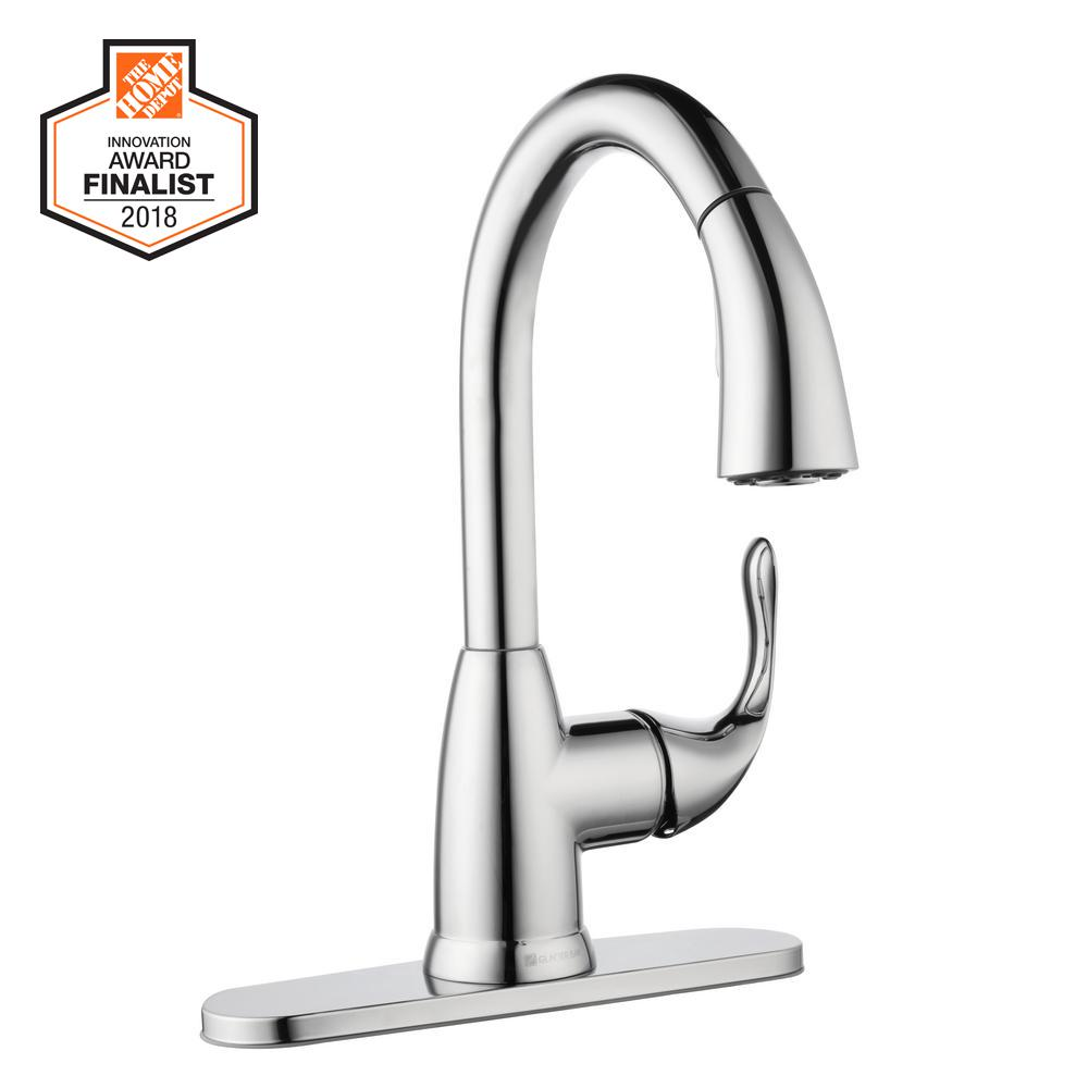 Glacier Bay Dylan Single Handle Pull Down Sprayer Kitchen Faucet In