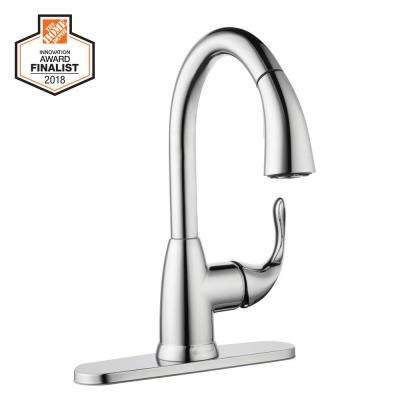 Dylan Single-Handle Pull-Down Sprayer Kitchen Faucet in Chrome