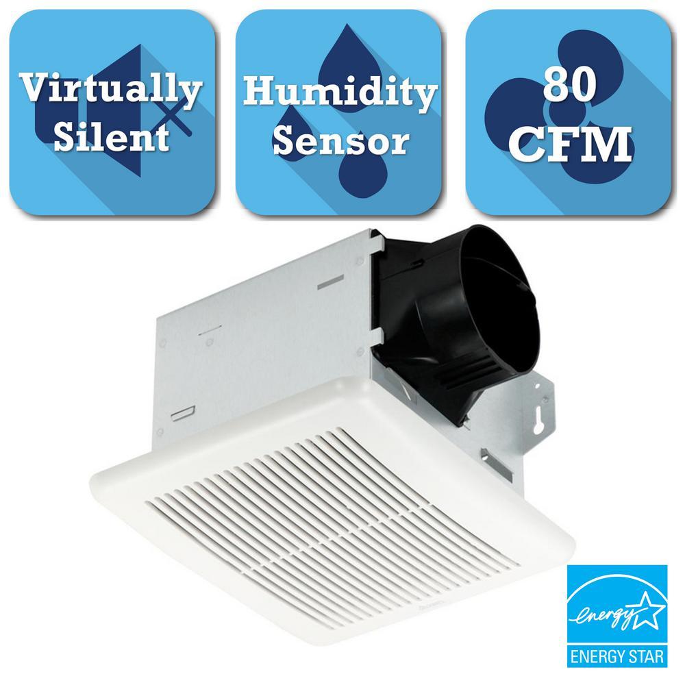 Bathroom Exhaust Fan Wattage: 70 CFM Ceiling Exhaust Fan With Light And 1300-Watt Heater