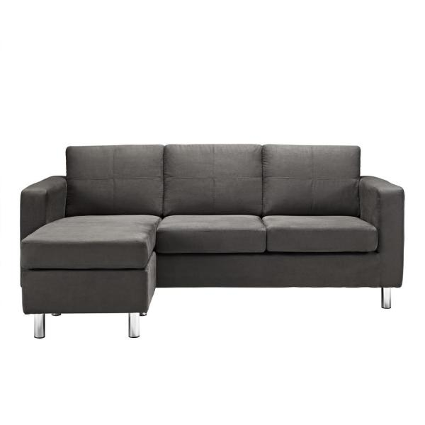 Dorel Living Small Spaces Configurable Sectional Sofa: Star Home Living Bill Red Right Facing Sectional Sofa With