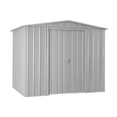 Gable 8 ft. x 6 ft. Aluminum White Metal Shed