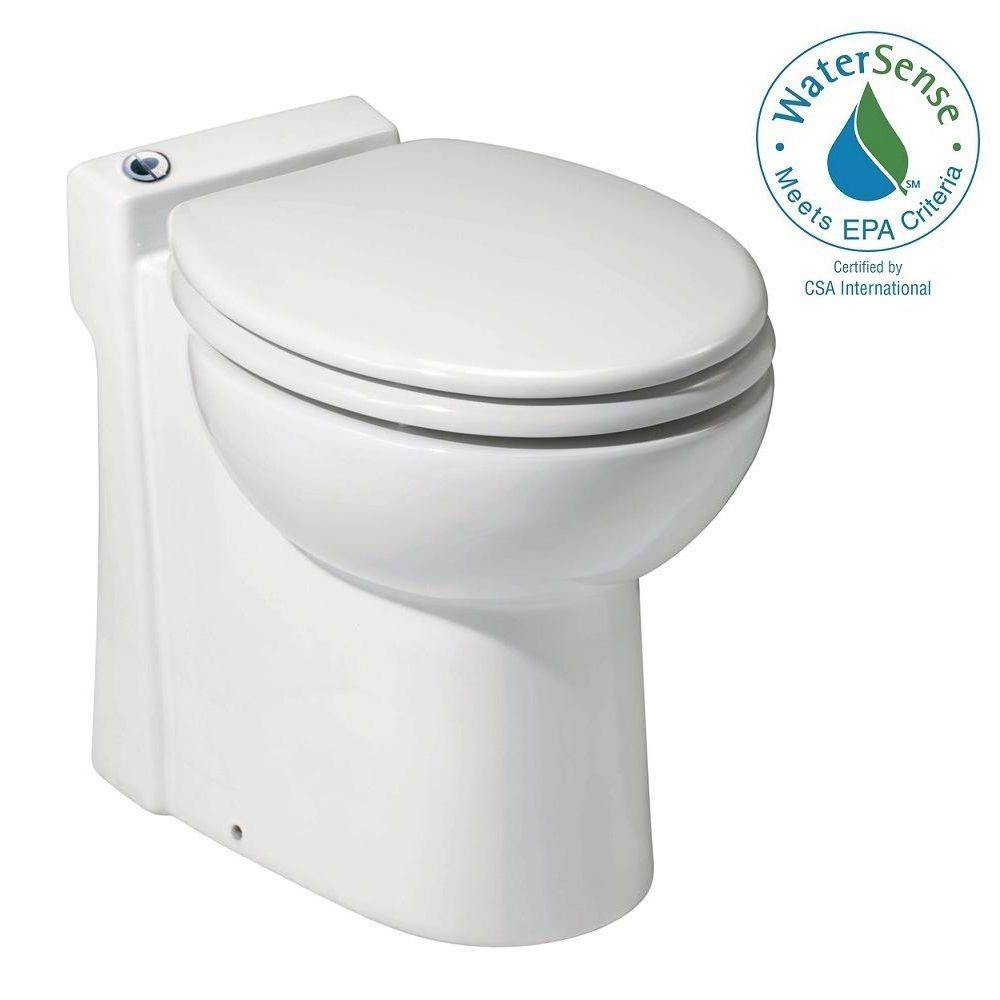 Saniflo SaniCompact 1-piece 1.28/1 GPF Dual Flush Elongat...