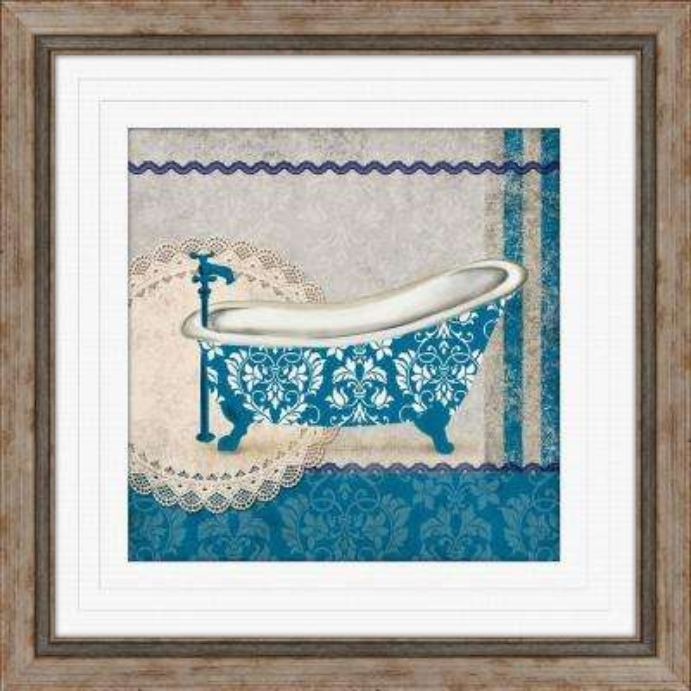"""19 in. x 19 in. """"Garden Bath A"""" Framed Wall Art"""