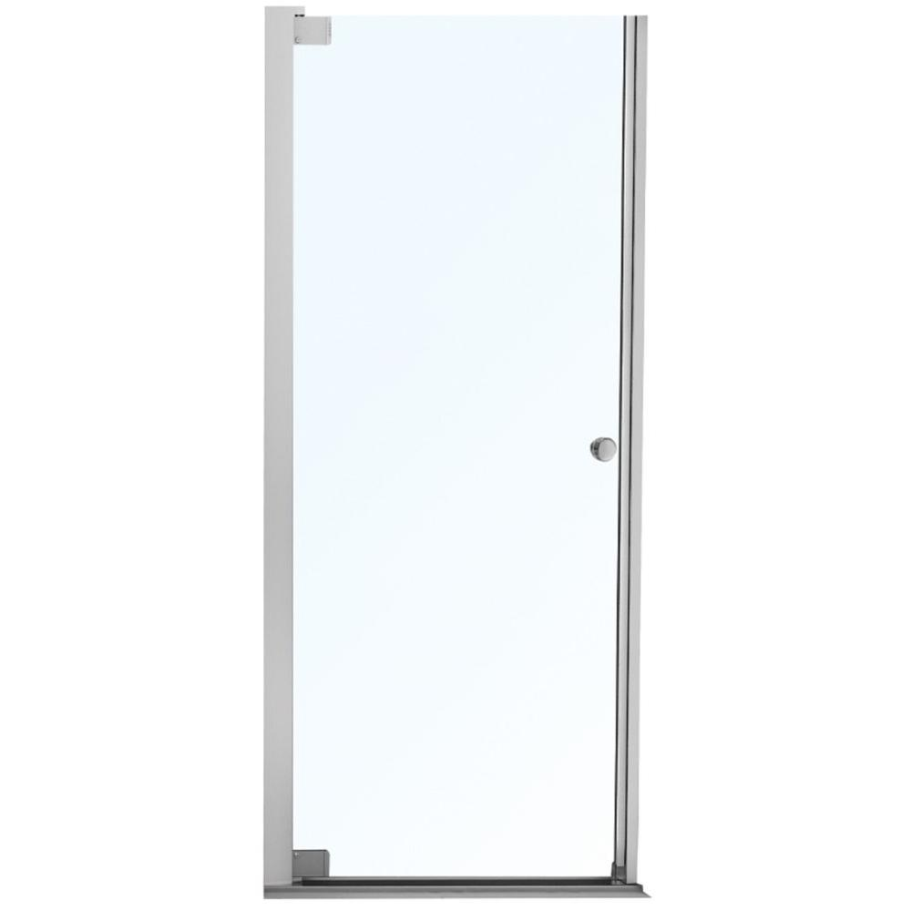 MAAX Insight 36.5 in. x 67 in. Semi-Framed Pivot Shower Door in Chrome
