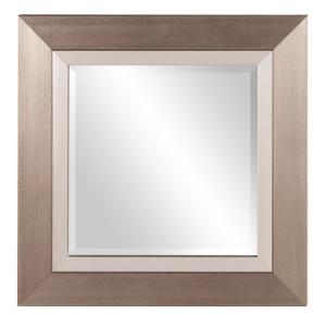 Chicago Brushed Silver Square Mirror by