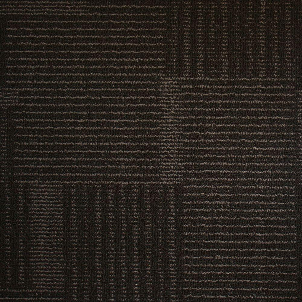 EuroTile Windsor Terrace Ebony Loop 19.7 in. x 19.7 in. Carpet Tile (20 Tiles/Case)