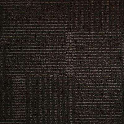Windsor Terrace Ebony Loop 19.7 in. x 19.7 in. Carpet Tile (20 Tiles/Case)