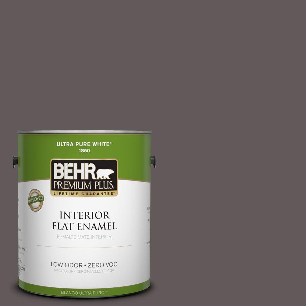 BEHR Premium Plus 1-gal. #T14-10 Coffee Bar Flat Enamel Interior Paint-DISCONTINUED