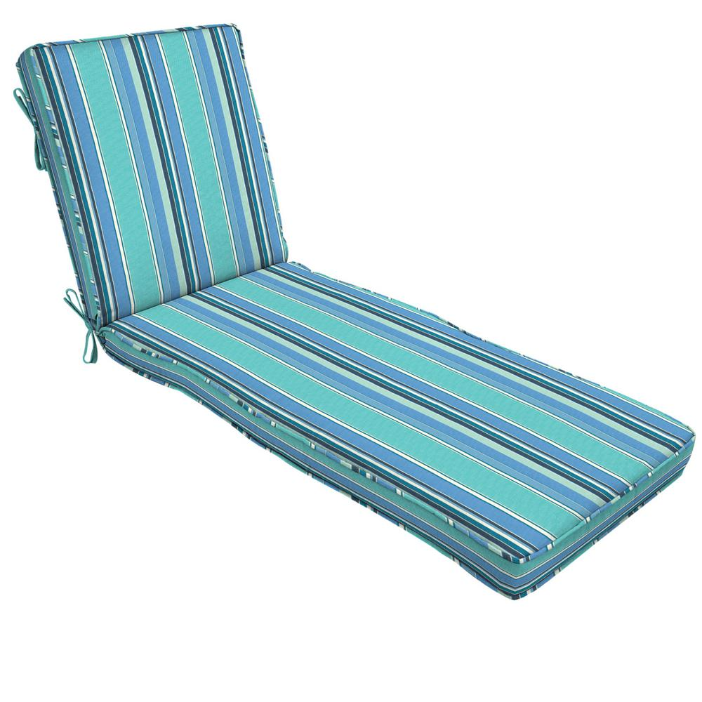 Home Decorators Collection 22 x 74 Sunbrella Dolce Oasis Outdoor Chaise Lounge Cushion