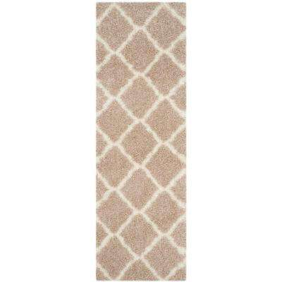 Montreal Shag Beige/Ivory 2 ft. 3 in. x 5 ft. Runner