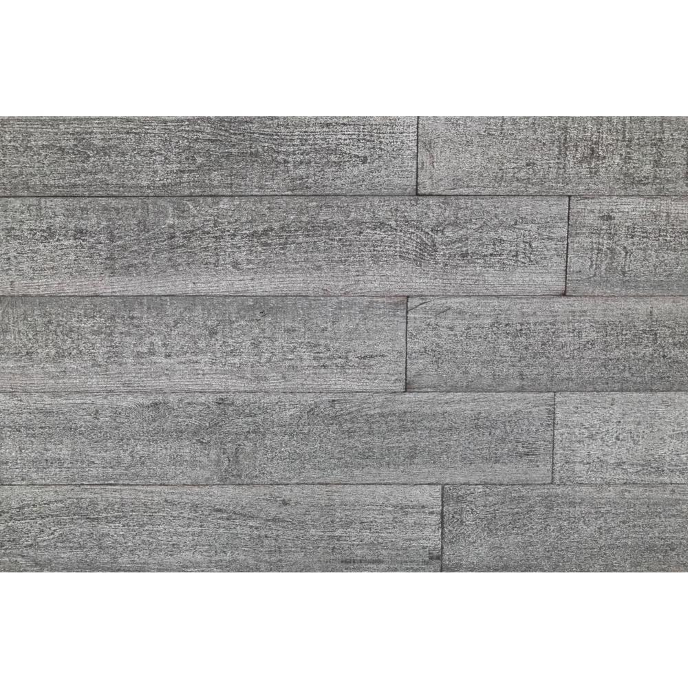 1 4 In X 5 2 Ft Gray Reclaimed Easy Paneling 3D Barn Wood