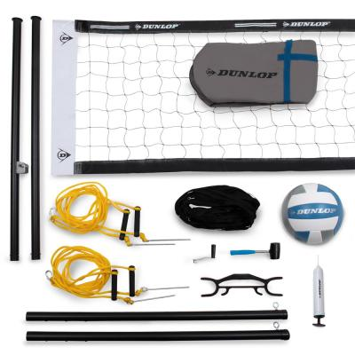 Professional Outdoor Sports Volleyball Set - Portable Net with Poles, Ball and Air Pump