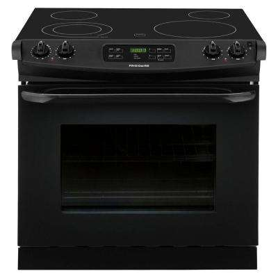 30 in. 4.6 cu. ft. Drop-In Electric Range with Self-Cleaning in Black