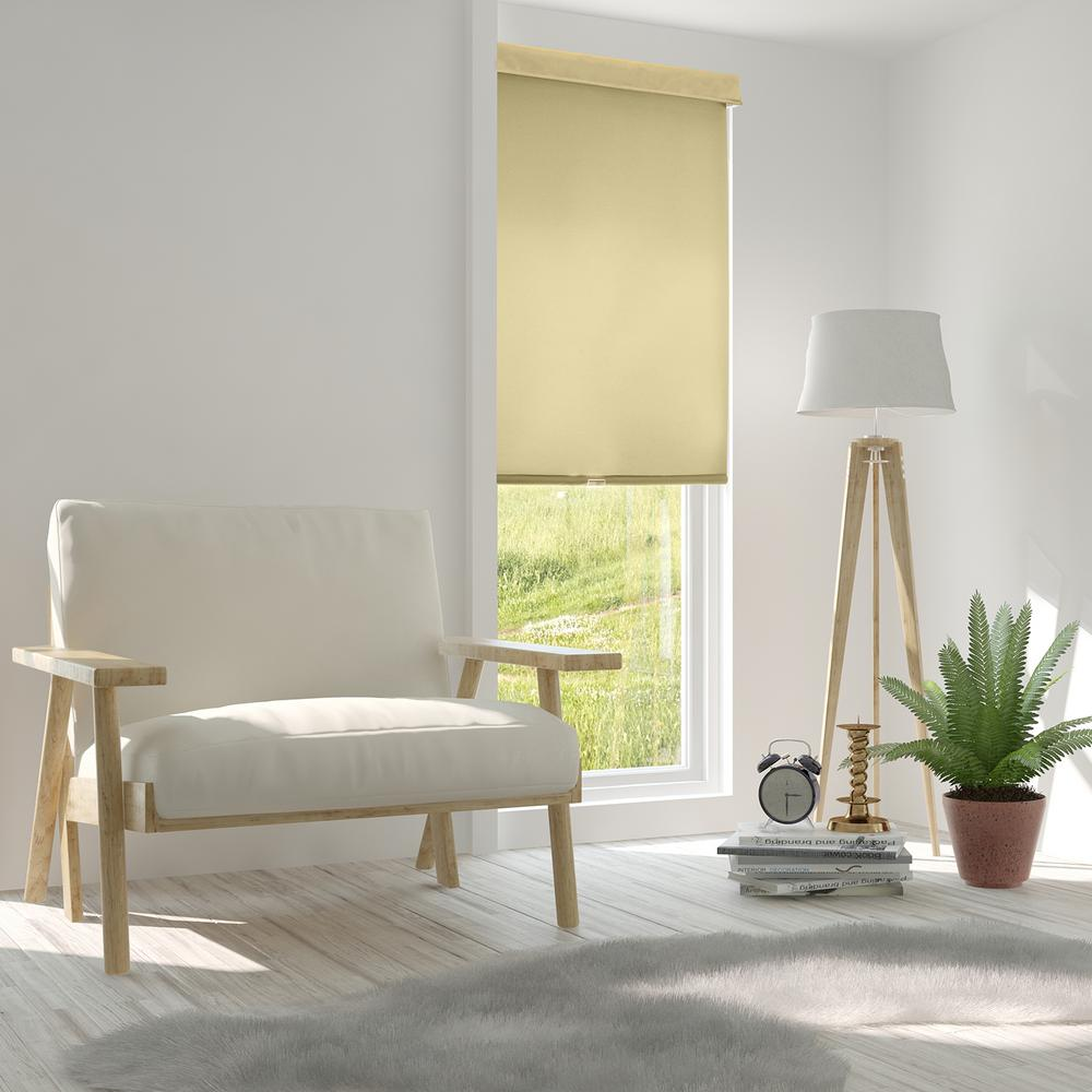 Chicology Snap-N'-Glide Corldess Mountain Almond Light Filtering Light Filtering Best for Kids Polyester Roller Shade