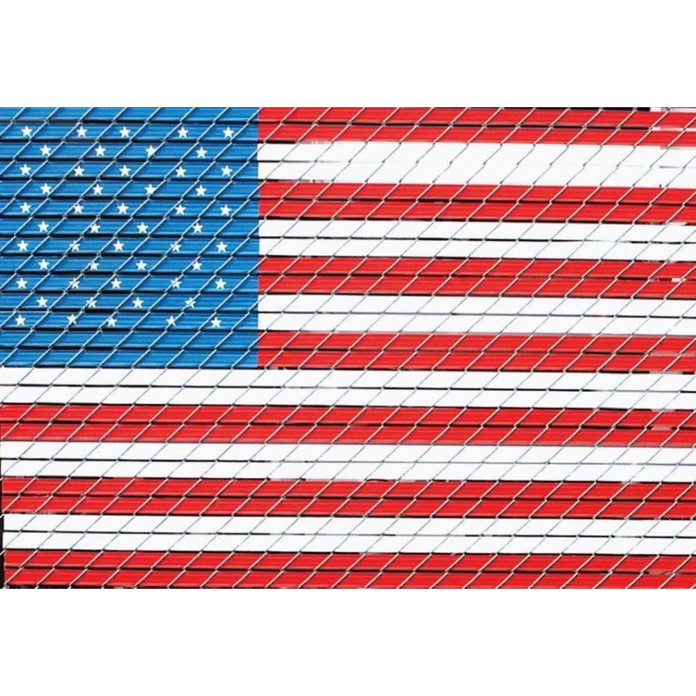 Pexco 4 ft. x 6 ft. American Flag Chain Link Fence Slat Kit