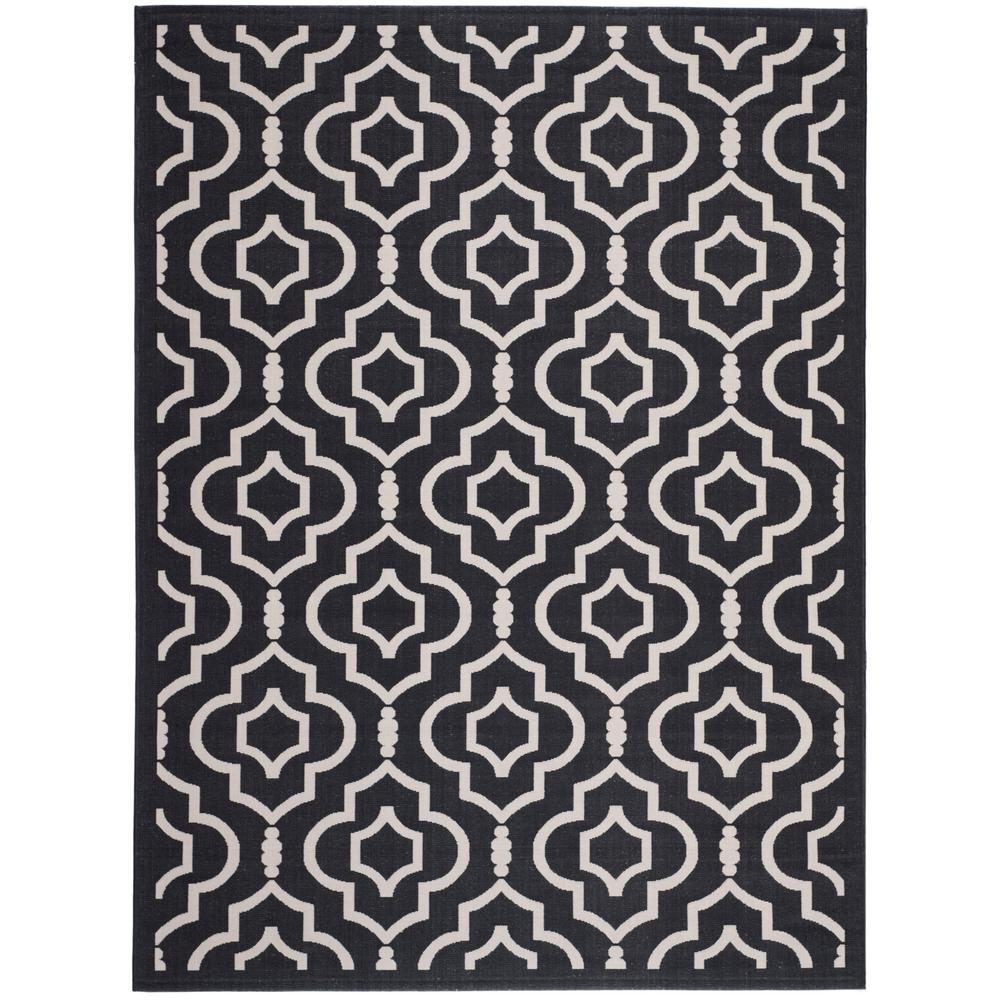 Courtyard Black/Beige 4 ft. x 5 ft. 7 in. Indoor/Outdoor Area