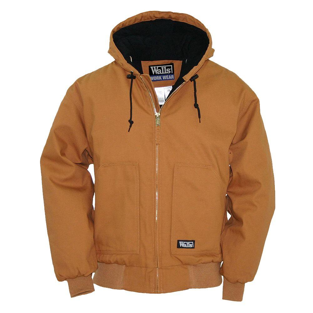 Walls Heavyweight Duck Insulated Hooded Large Tall Jacket in Brown