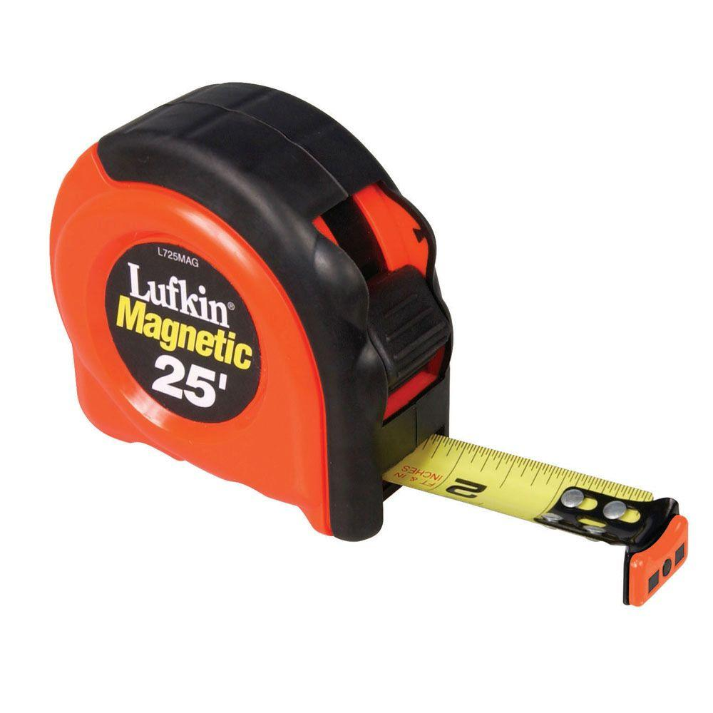 Lufkin 1 in. x 25 ft. Magnetic End Hook Tape Measure