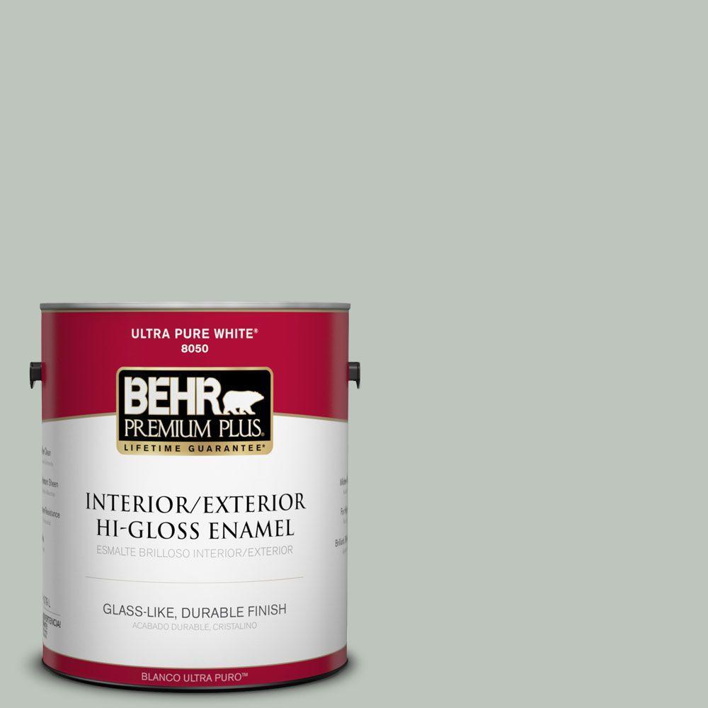 BEHR Premium Plus 1-gal. #N410-3 Riverdale Hi-Gloss Enamel Interior/Exterior Paint