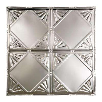 Erie 2 ft. x 2 ft. Nail-up Tin Ceiling Tile in Clear