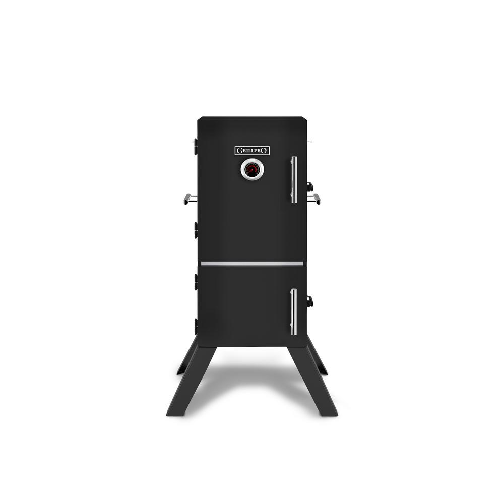 GrillPro 33 in. Vertical Charcoal Cabinet Smoker