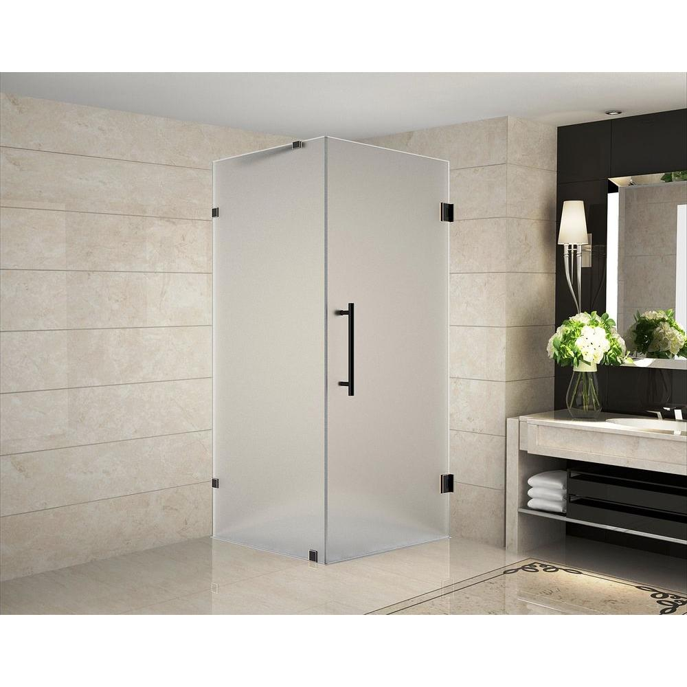 Aston Aquadica 36 in. x 36 in. x 72 in. Frameless Hinged Square ...