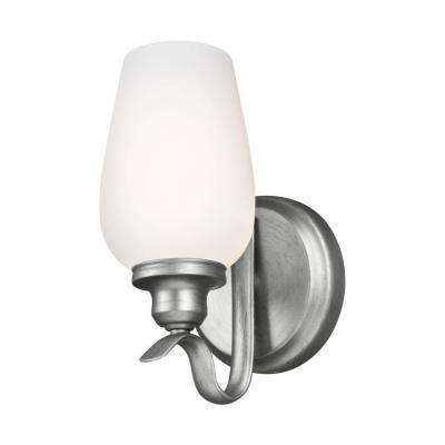 Standish 1-Light Heritage Silver Wall Sconce