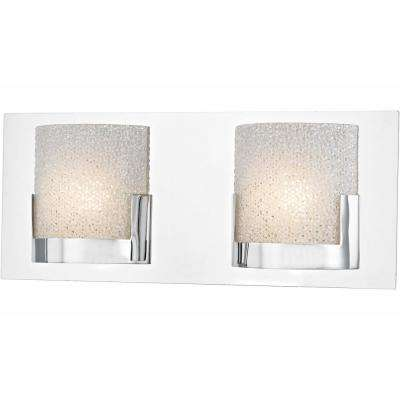 Ophelia 2-Light Chrome and Clear Glass LED Vanity Light