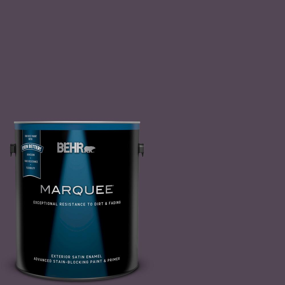 Behr Marquee 1 Gal Bxc 51 Deep Mulberry Satin Enamel Exterior Paint And Primer In One 945301 The Home Depot