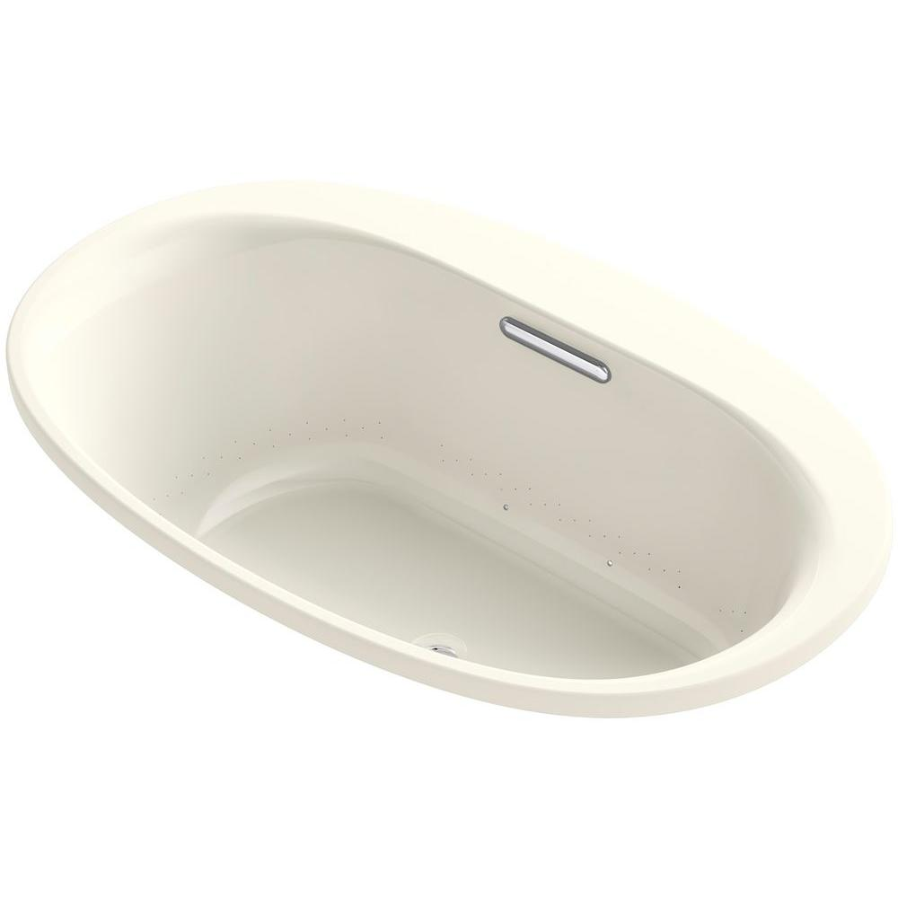 KOHLER Underscore 5 ft. Center Drain Soaking Tub in Biscuit-K-5714 ...