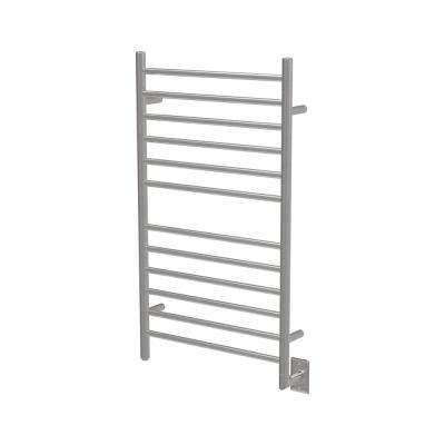 Radiant Large 12-Bar Electric Towel Warmer in Brushed Stainless Steel