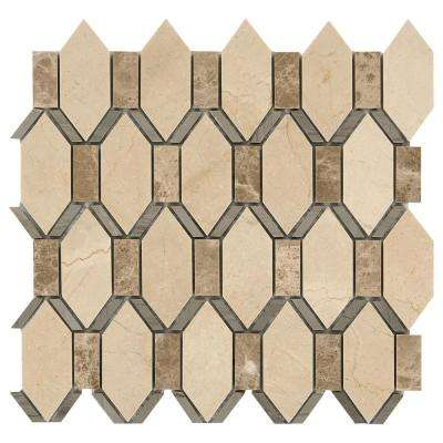 Stone Decor Diamond Cut 12-5/8 in. x 13-3/8 in. x 10mm Stone Mosaic Floor and Wall Tile (1 sq. ft. / piece)