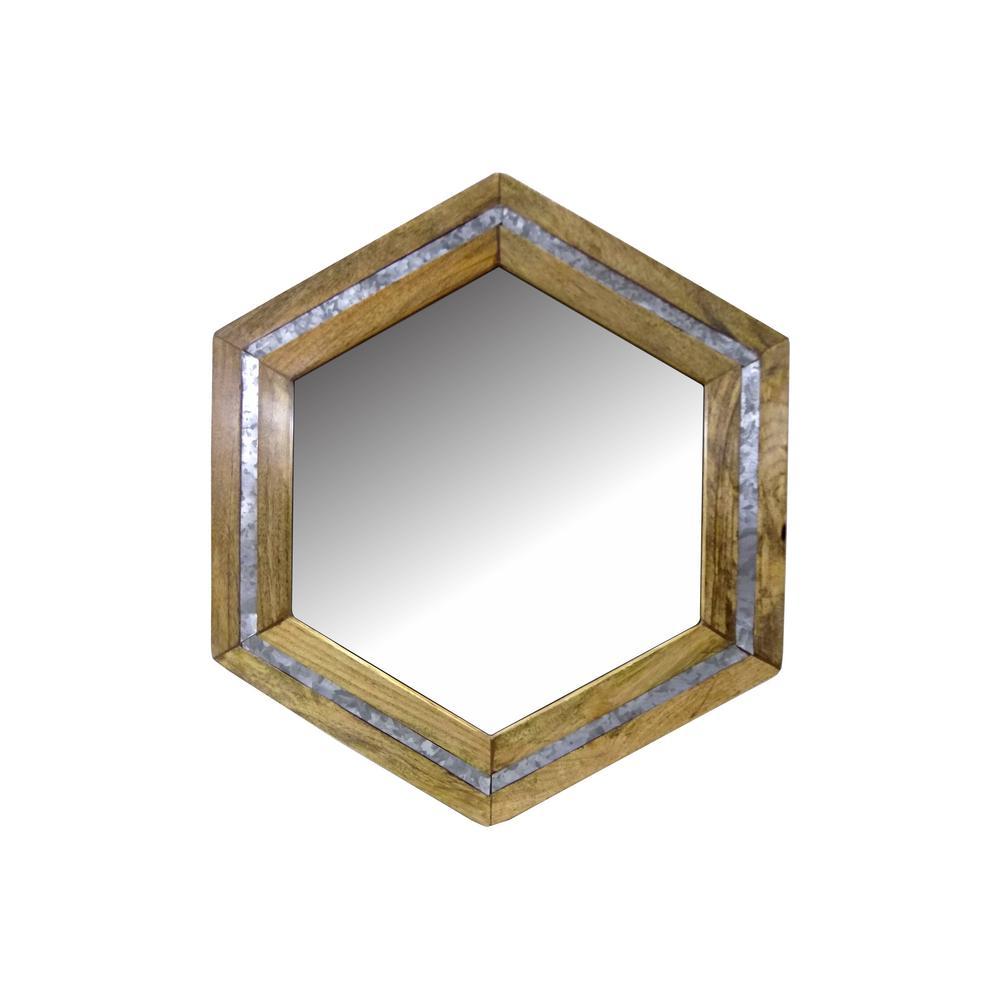 RASHI ENTERPRISES Wood/Galvanized with Mirror was $49.95 now $30.32 (39.0% off)