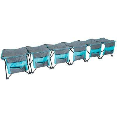 6-Person Curved Folding Bench