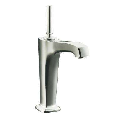 Margaux Single Hole Single Handle Mid Arc Bathroom Faucet in Vibrant Polished Nickel