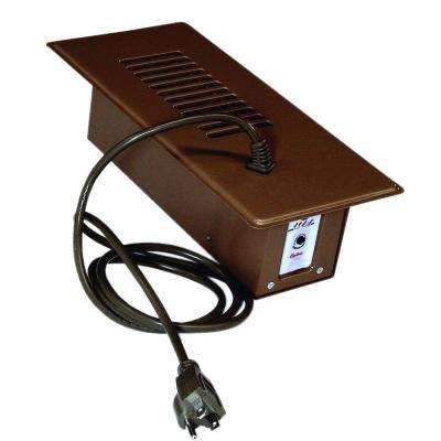 Cyclone Booster Fan Plus with Built-In Thermostat in Brown