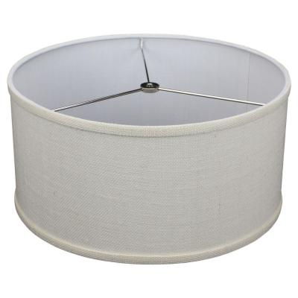 Fenchel Shades 14 in. Top Diameter x 14 in. Bottom Diameter x 7 in. Height, Drum Lamp Shade - Burlap Off White