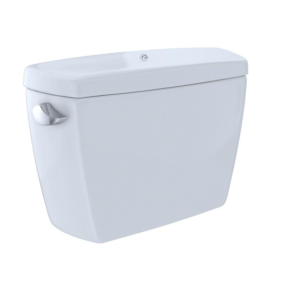 TOTO Drake 1.28 GPF Single Flush Toilet Tank Only with Bolt Down Lid ...