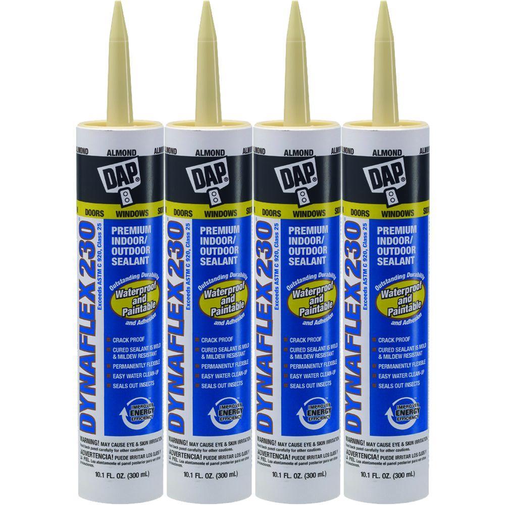 DAP 10.1 oz. Almond Dynaflex 230 Premium Indoor/Outdoor Sealant (4-Pack)-DISCONTINUED