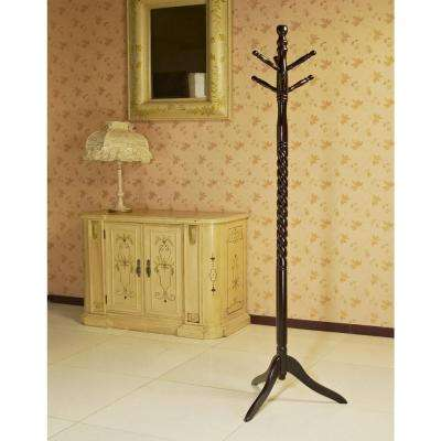 Cherry 6-Hook Coat Rack