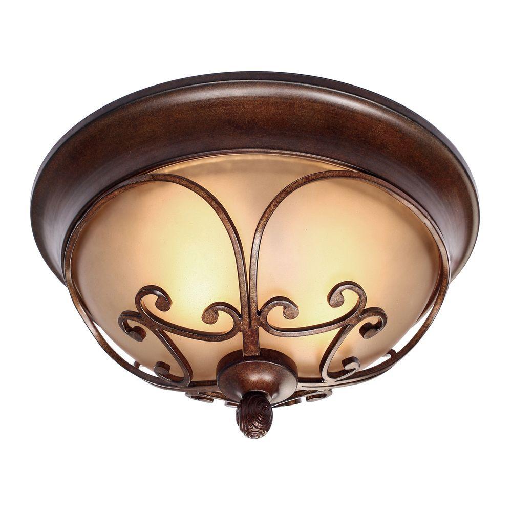 Loretto Collection 2-Light Russet Bronze Flushmount