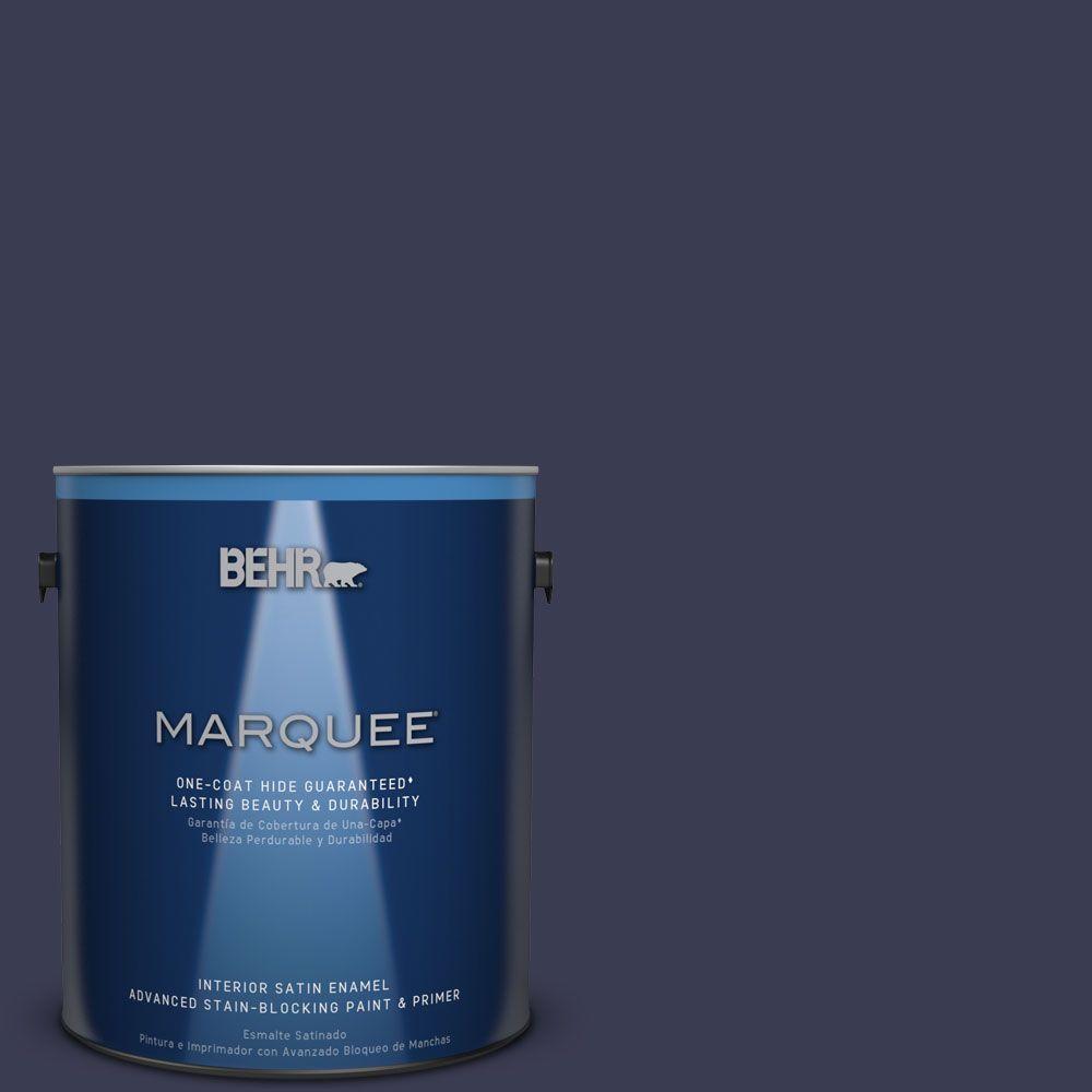 1 gal. #HDC-WR16-03 Blueberry Tart Satin Enamel Interior Paint