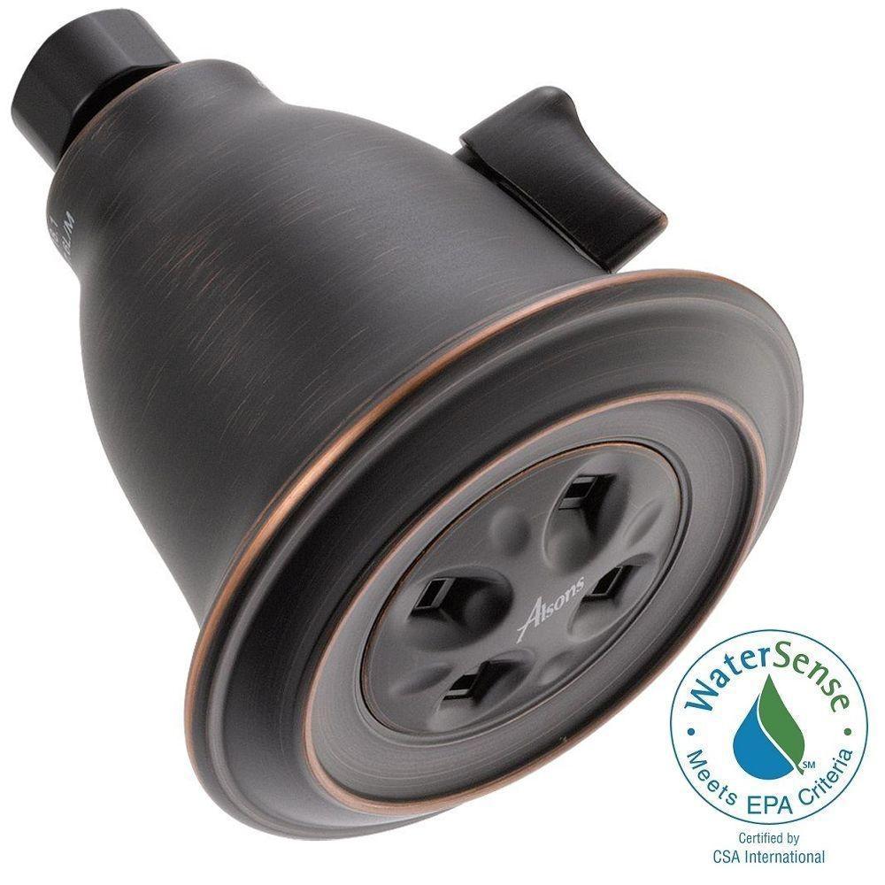 Delta 1-Spray 3.91 in. Fixed Showerhead with H2Okinetic in Venetian Bronze