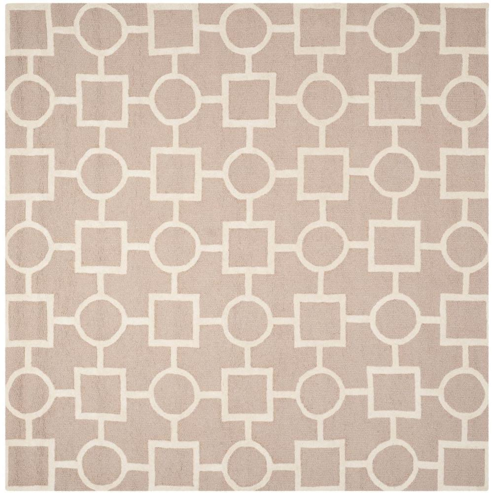 Cambridge Beige/Ivory 8 ft. x 8 ft. Square Area Rug