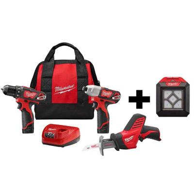 M12 12-Volt Lithium-Ion Cordless Combo Kit (3-Tool) with M12 Flood Light