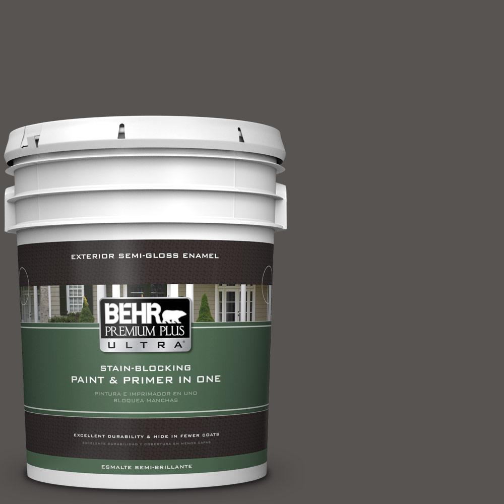 5 gal. #HDC-CL-24G Equestrian Leather Semi-Gloss Enamel Exterior Paint