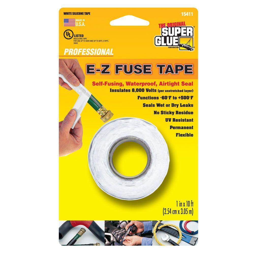 Super Glue 1 inch x 10 ft. White E-Z Fuse Silicone Tape (Case of 12) by Super Glue